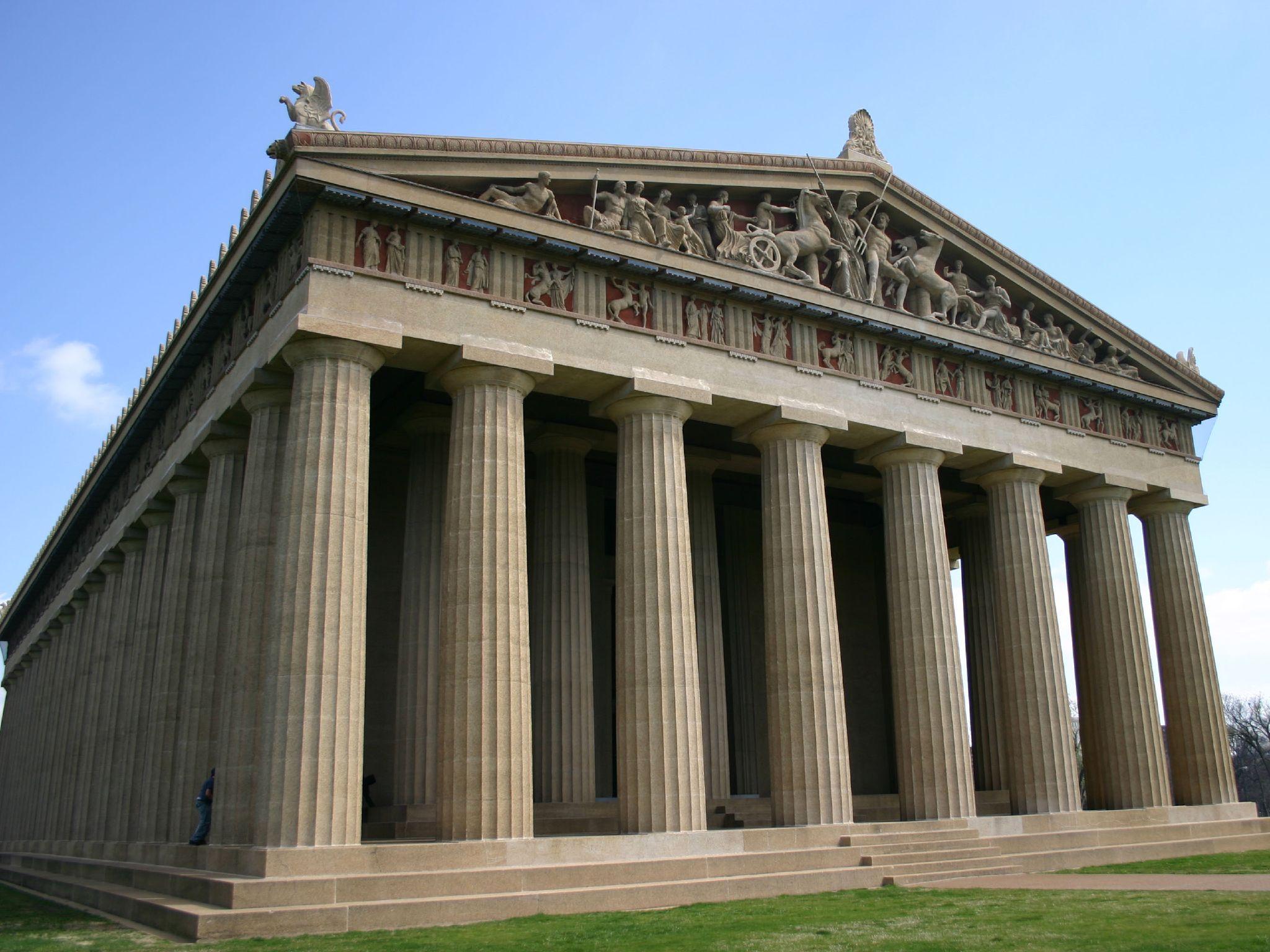 схема построения энтазиса колонны дорического ордера