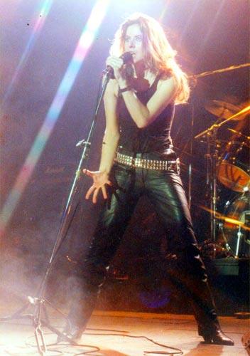 Celeste Carballo en 1986.