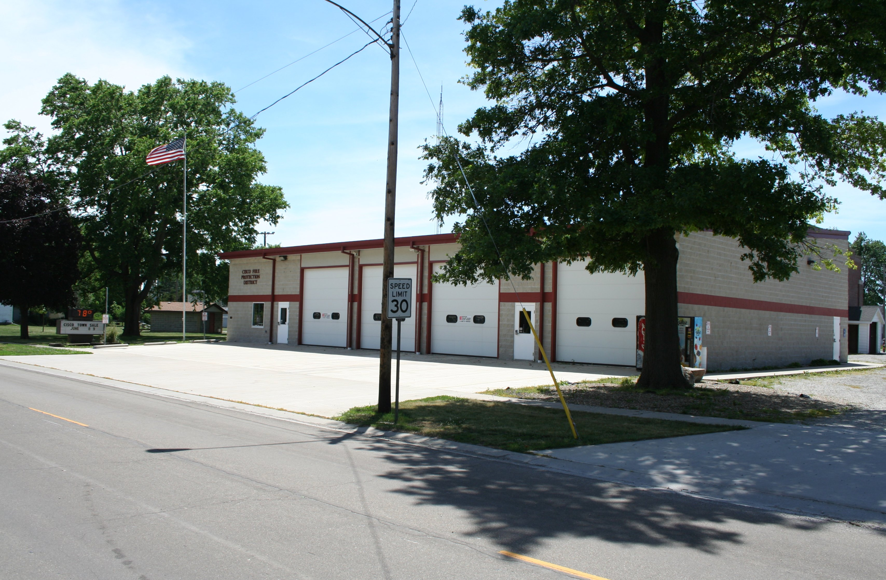 Illinois piatt county cisco - File Cisco Illinois Fire Station Jpg