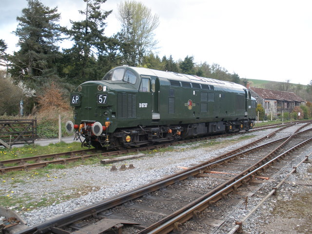 File Class 37 Locomotive Stands At Staverton Yard