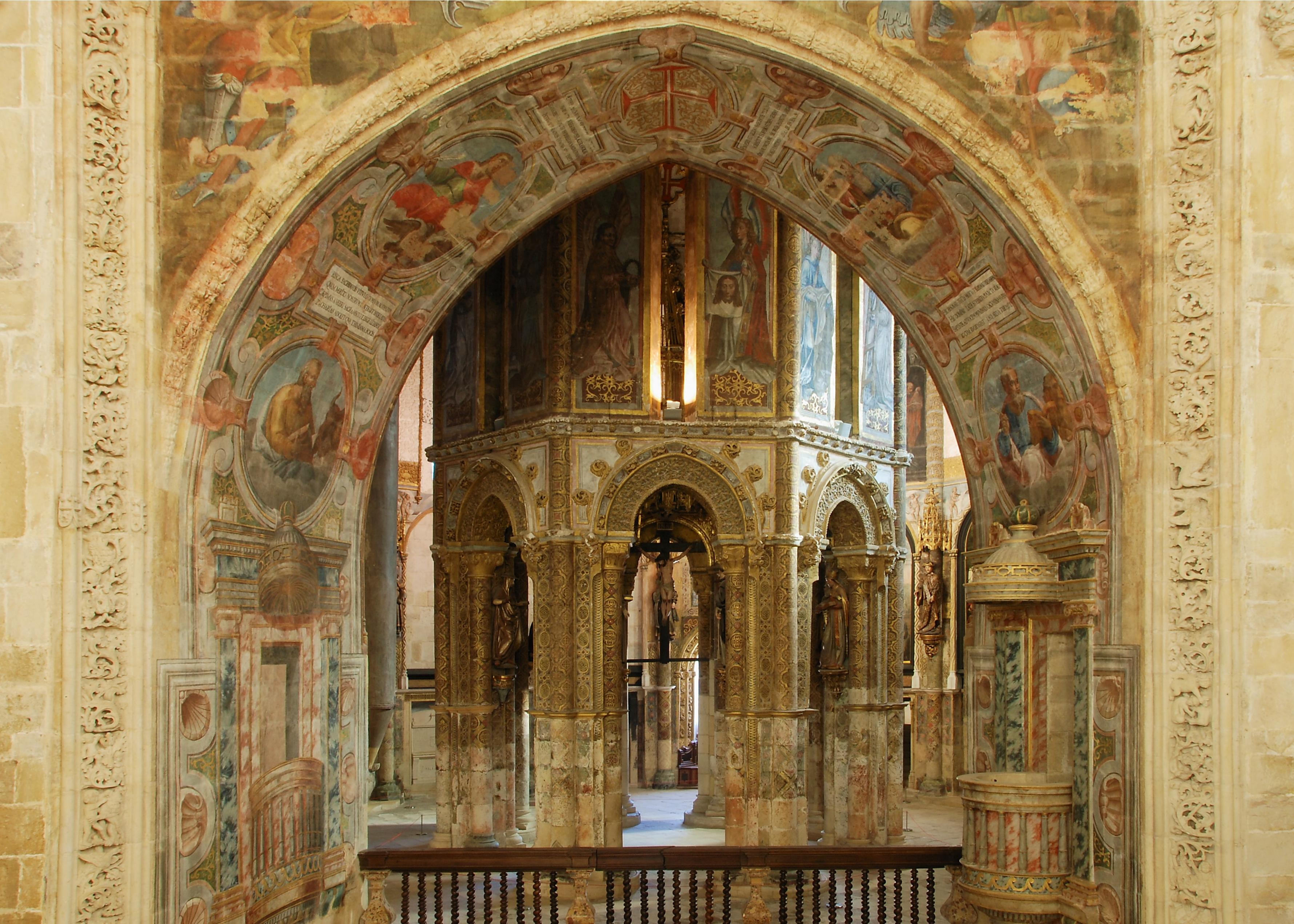 #3A2712 Checkin com Sandra: PORTUGAL TOMAR 4625 Janela Convento De Cristo Tomar