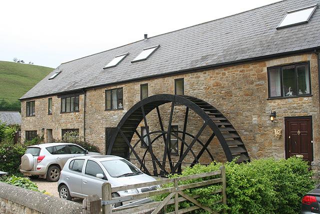 Corton Denham - waterwheel at Whitcombe Farm - geograph.org.uk - 425885