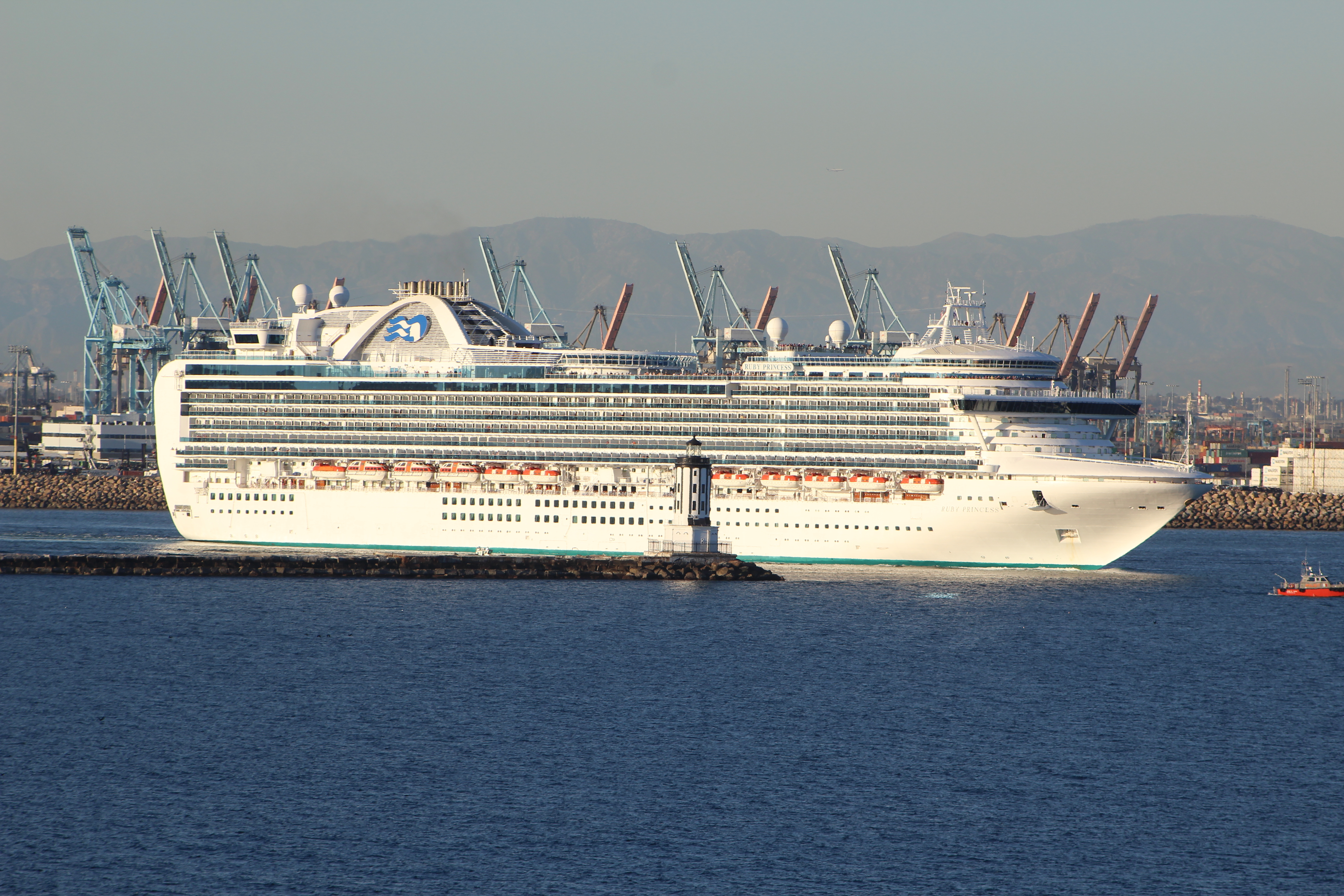 FileCruise Ship Departing Port Of Los Angeles Panoramio Jpg - Cruise ships los angeles