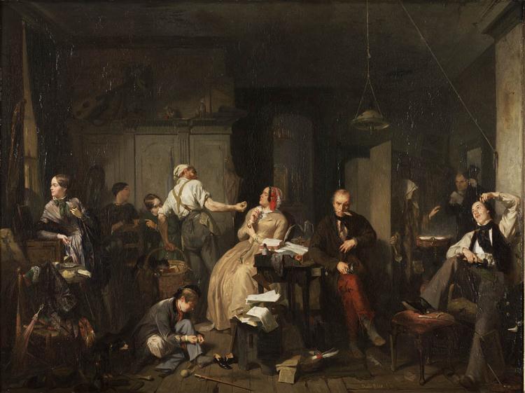 File:David Joseph Bles (1821-1899), Armoede en Weelde 1848, Olieverf op paneel.JPG