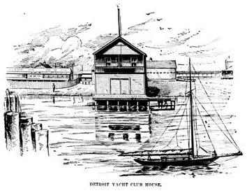 Detroit Yacht Club House c 1894, courtesy of wikipedia commons