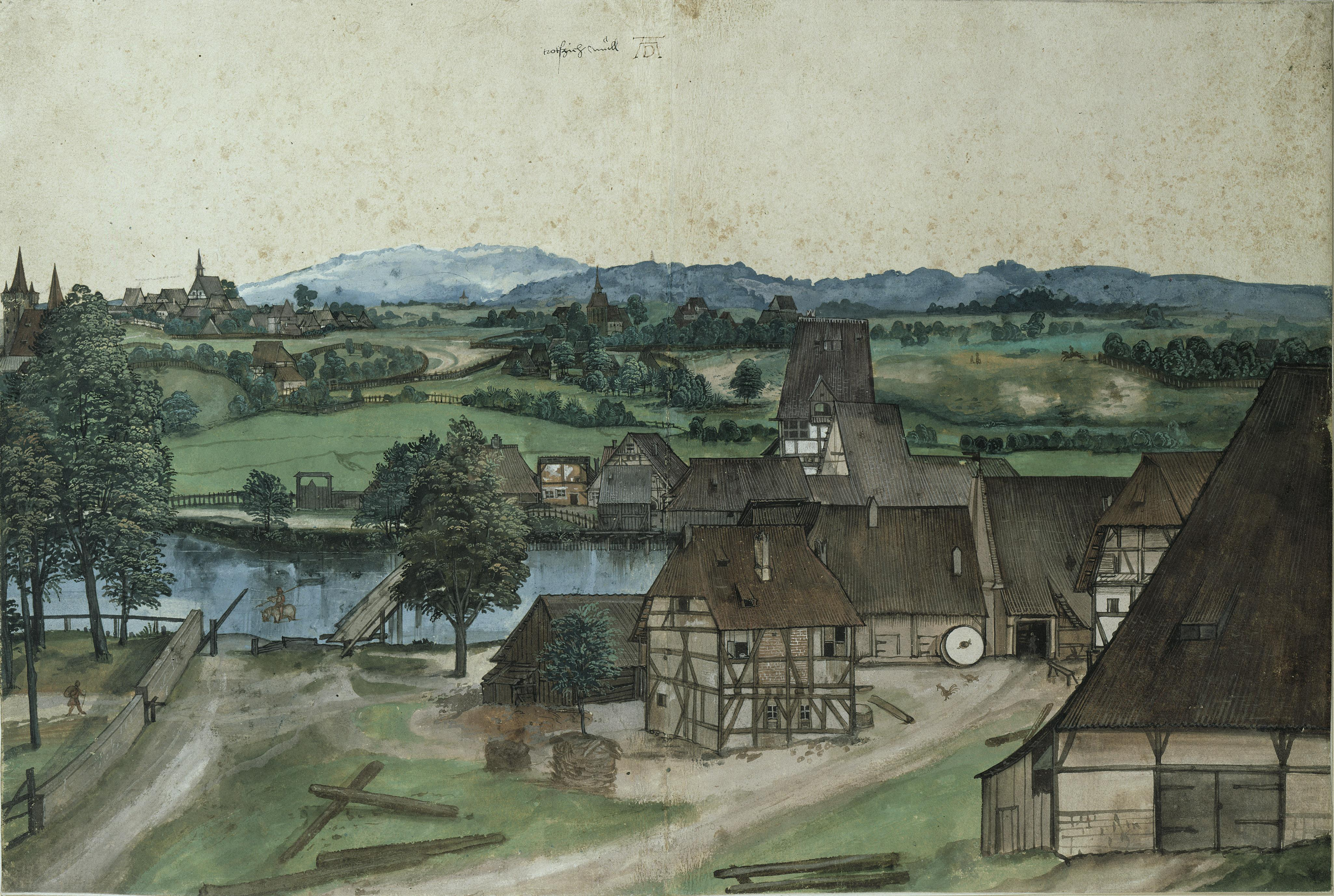Milan To Rome >> File:Duerer Drahtziehmuehle.jpg - Wikimedia Commons