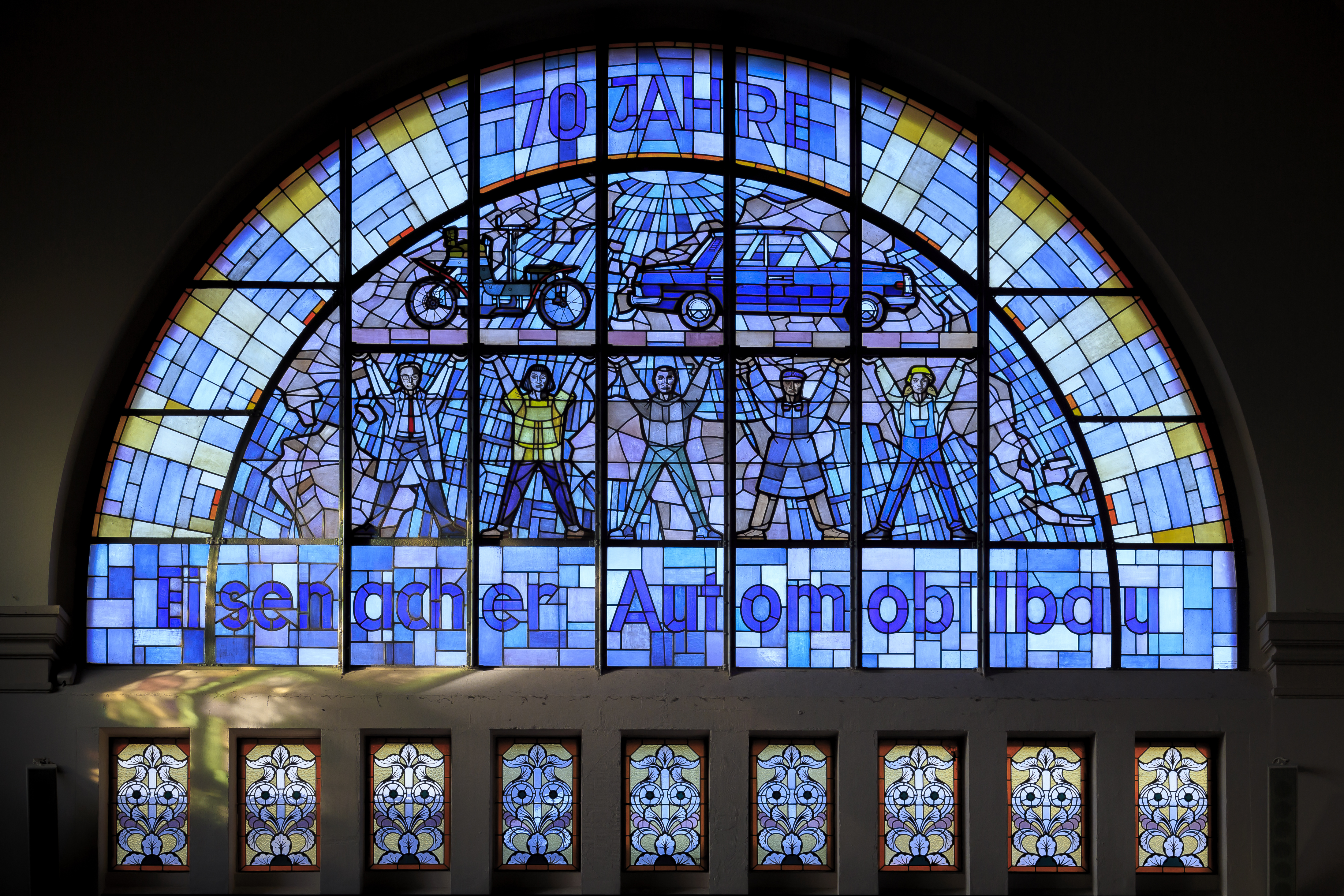 Bestandeisenach Germany Stained Glass Windows In Railway Station 01