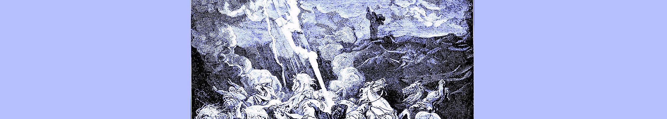 Пророк Илия уничтожает посланников царя Охозии.