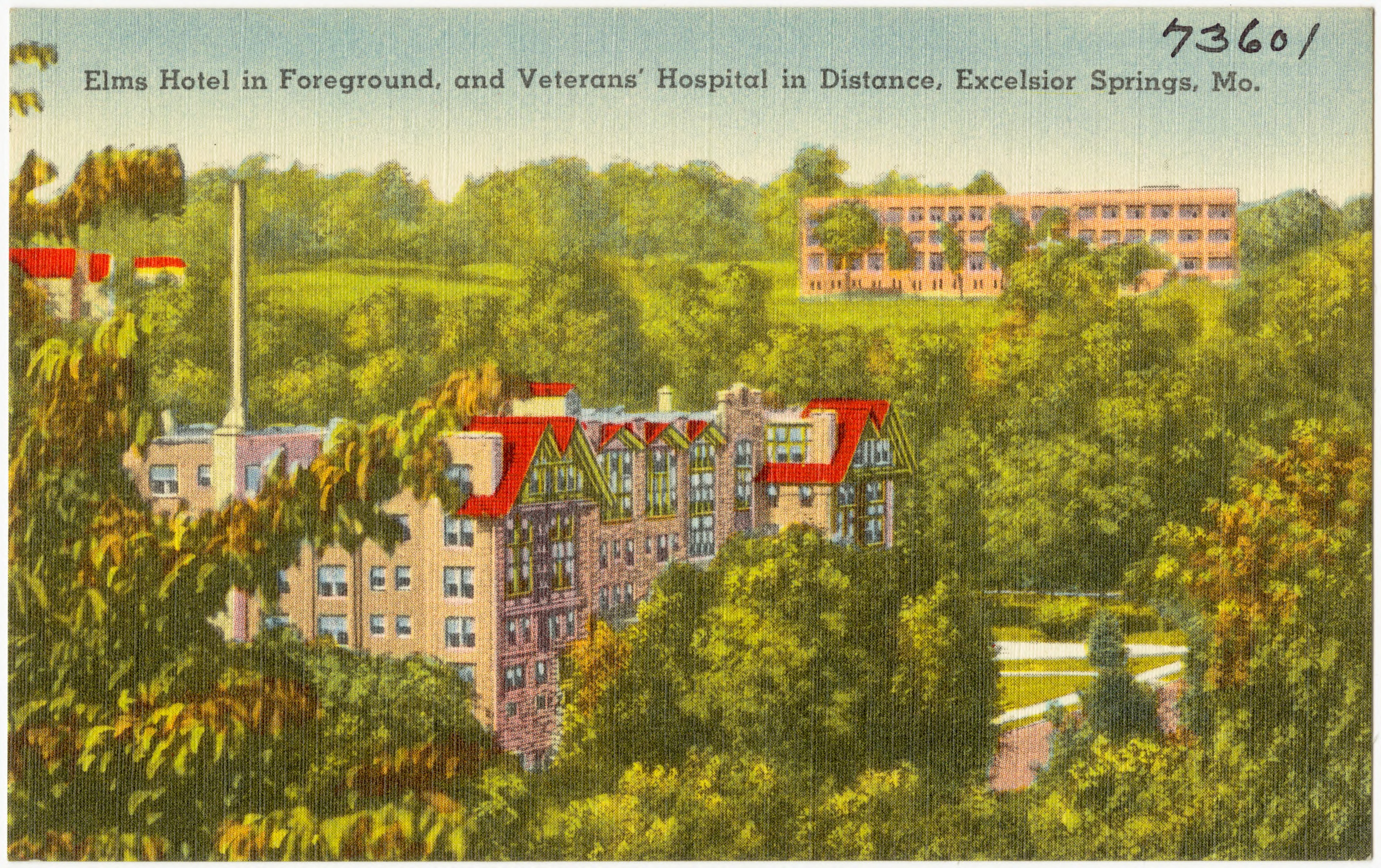 File Elms Hotel In Foreground And Veterans Hospital Distance Excelsior Springs