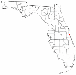 Location of Indialantic, Florida