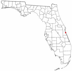 Location of Indialantic, Florida