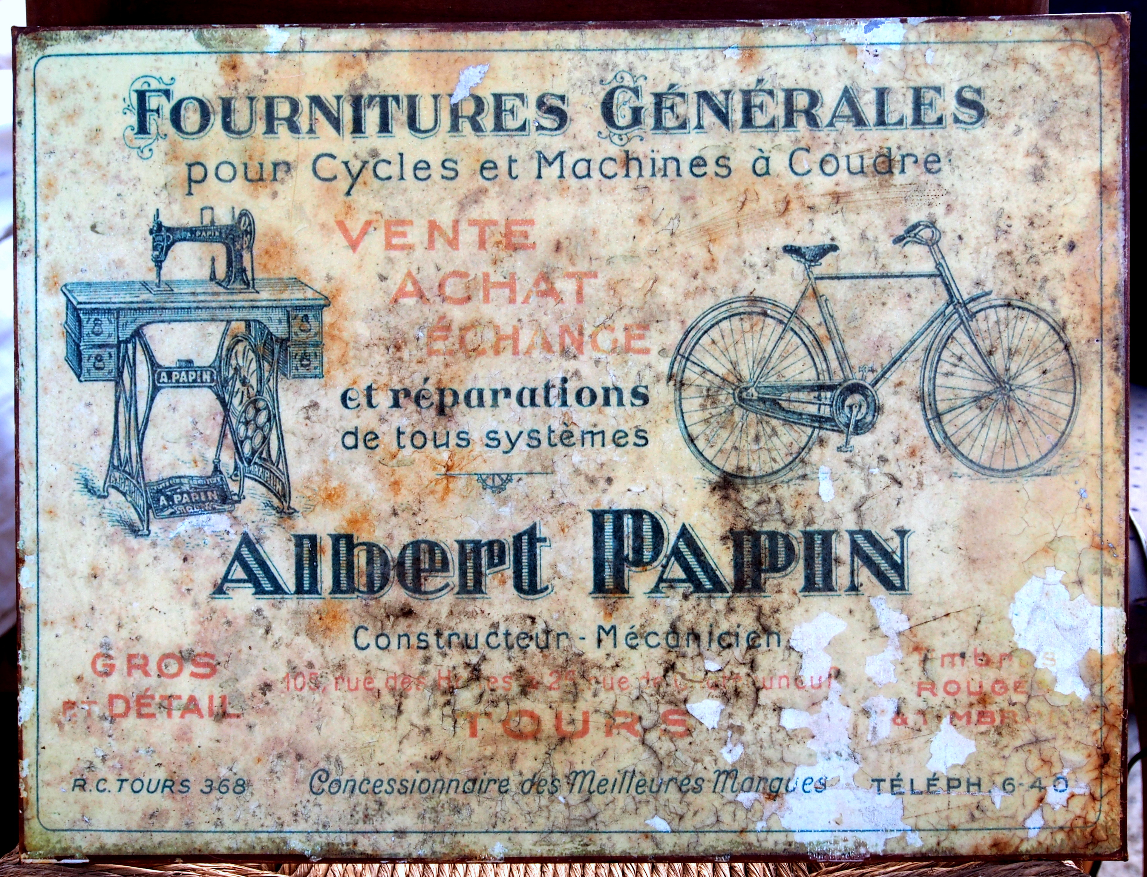file fournitures generales pour cycles et machines a coudre albert papin advertising sign jpg. Black Bedroom Furniture Sets. Home Design Ideas