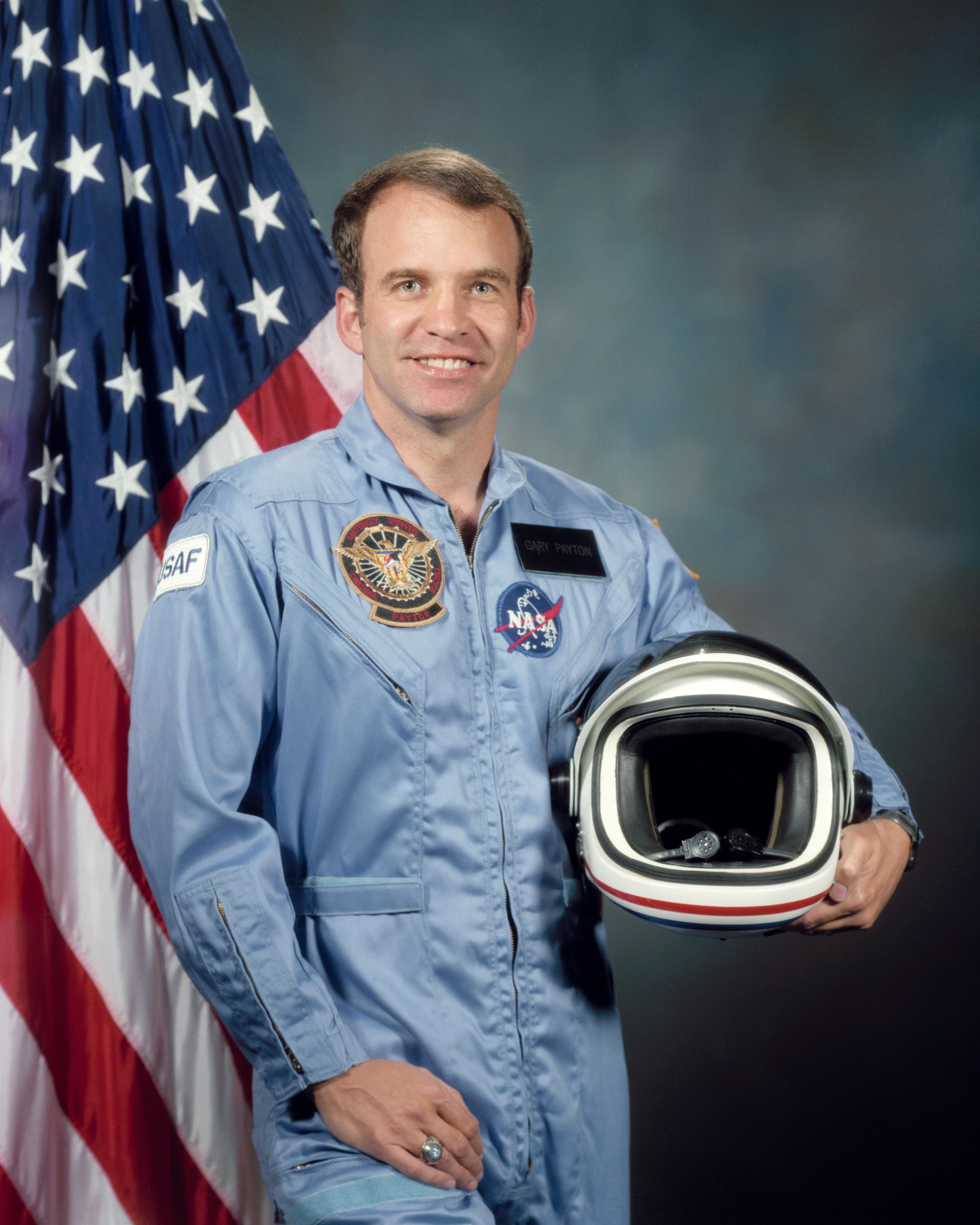 Astronaut Gary Payton, NASA photo (1984)Source: Wikipedia (www.jsc.nasa.gov unavailable June 2019) Gary_Payton.jpg