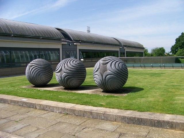 Giant seeds outside the Millennium Seed Bank at Wakehurst Place - geograph.org.uk - 836744