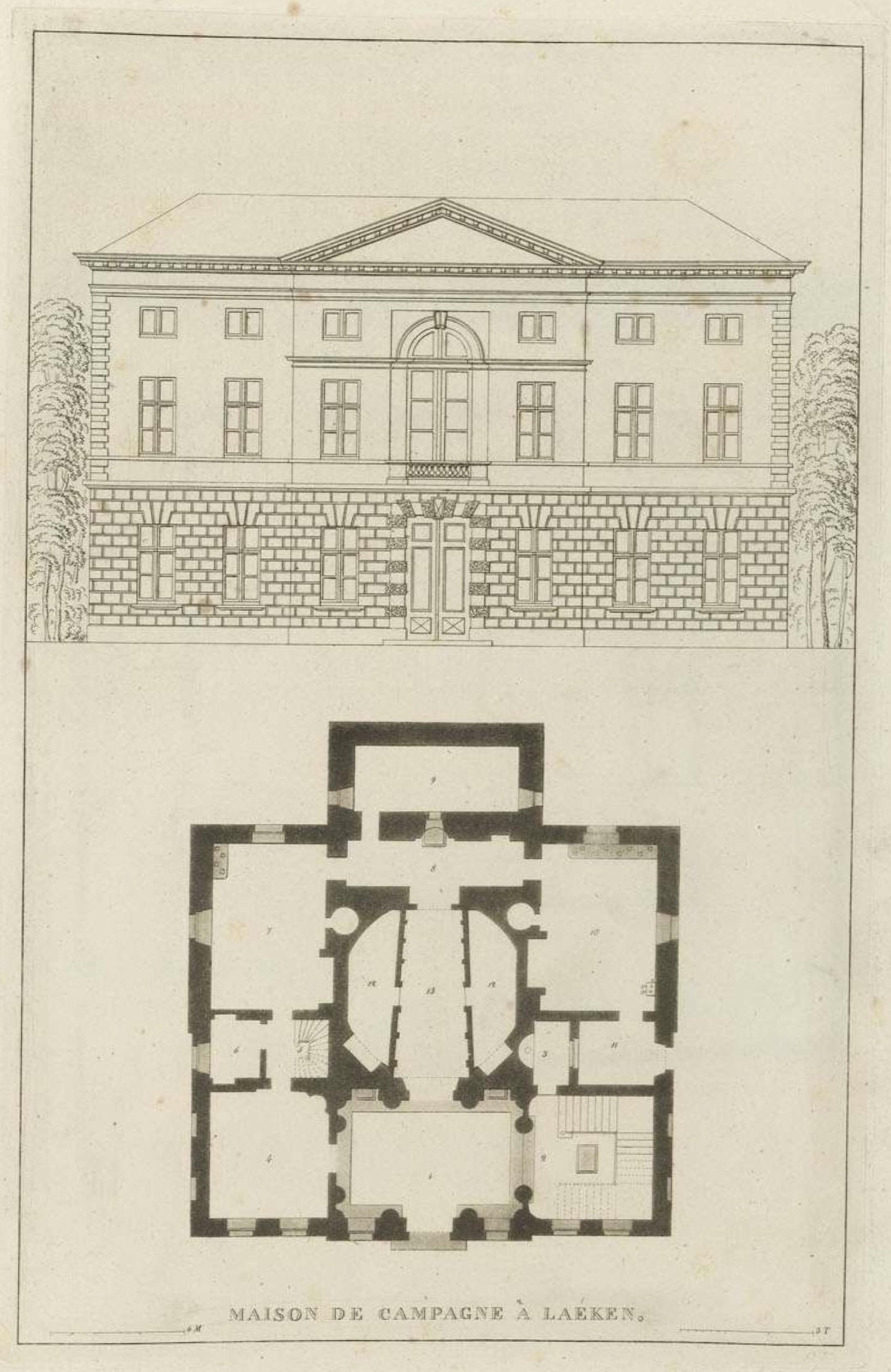 File goetghebuer 1827 choix des monuments 016 plan et fa ade jardin mai - Pimkie plan de campagne ...