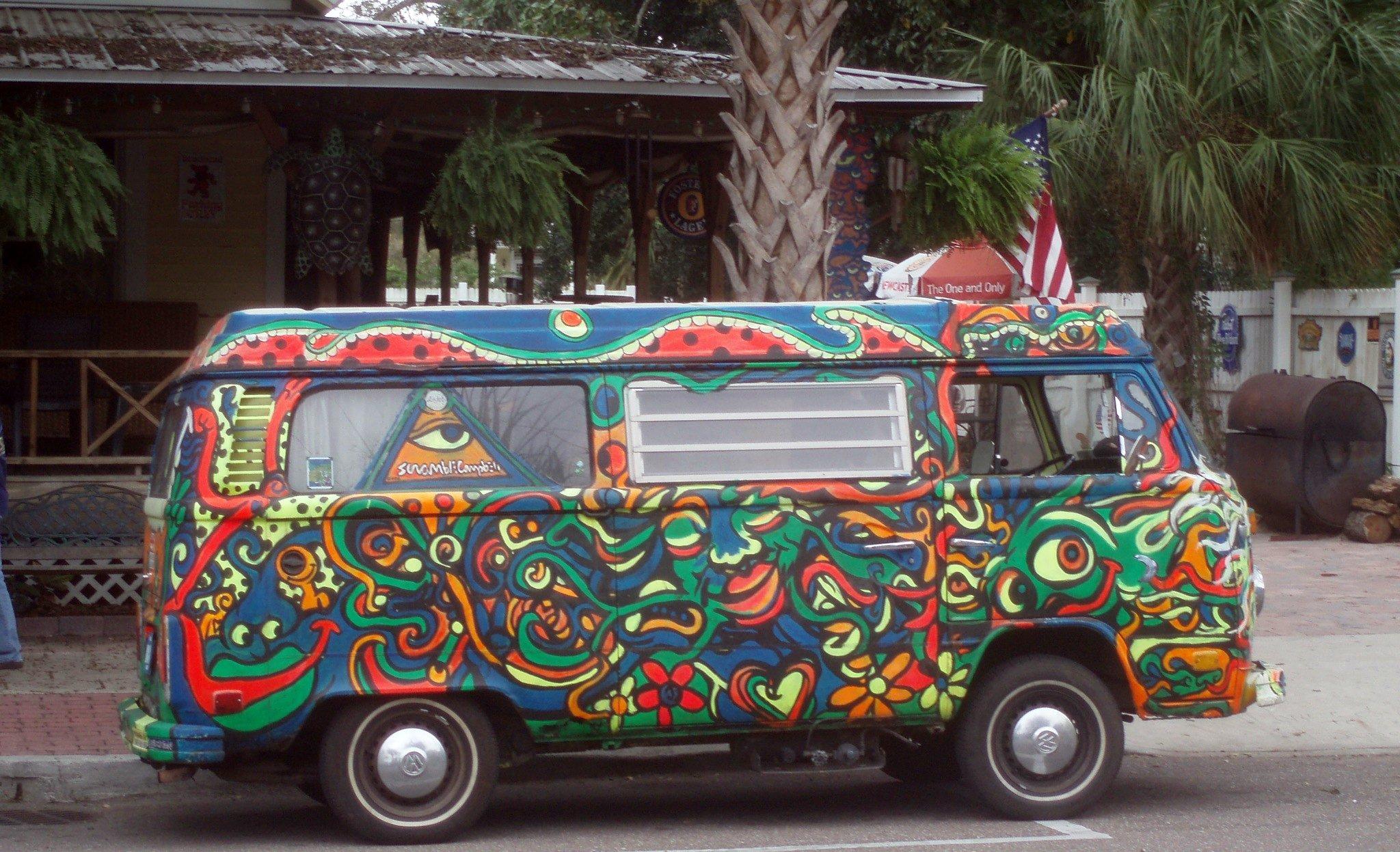 картинки хиппи автобуса что предметы одежды