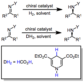 Hydrogenation of carbon–nitrogen double bonds - Wikipedia
