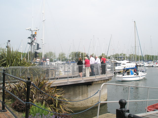 Interested spectators at Chichester Marina - geograph.org.uk - 794679