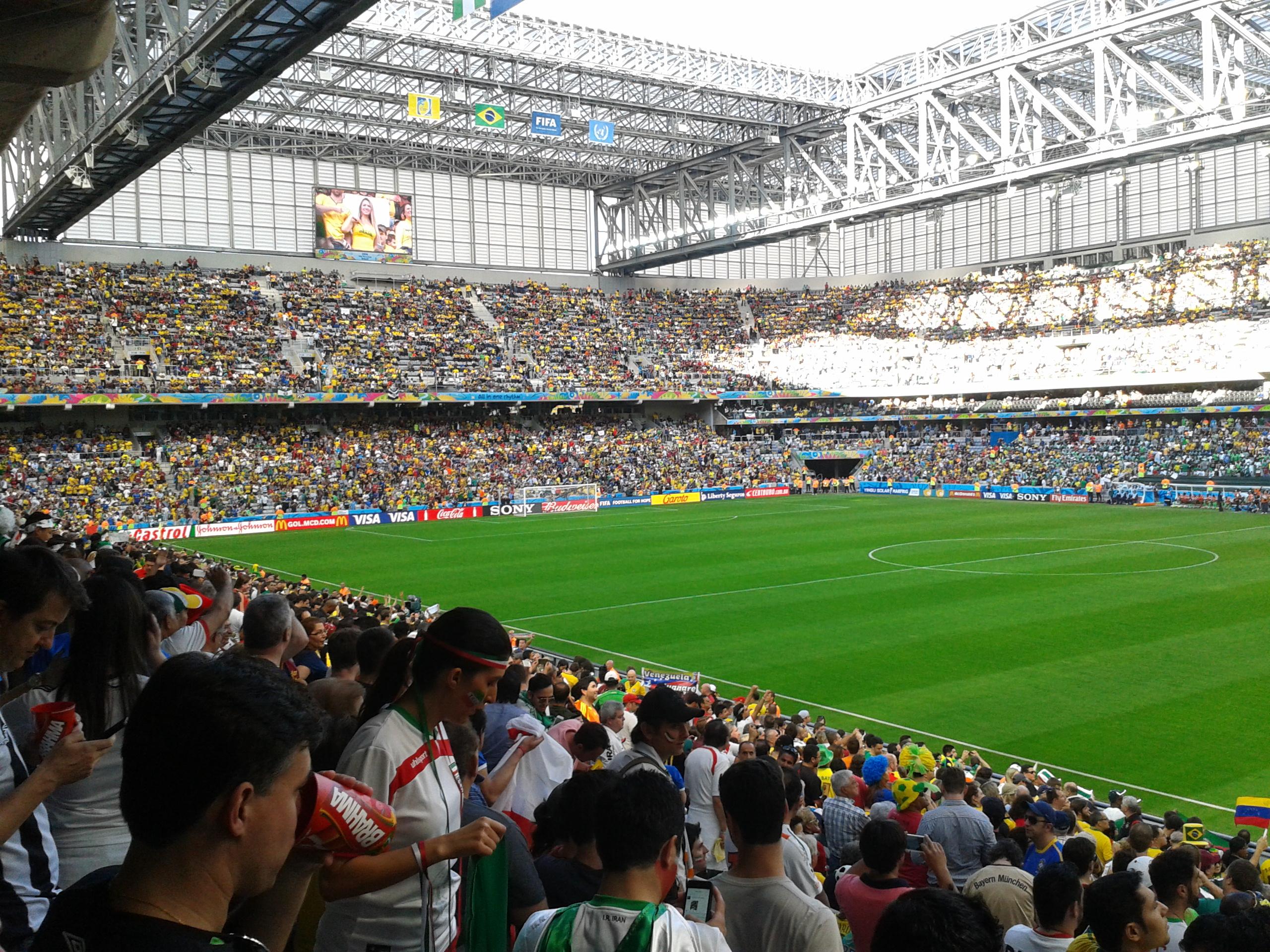 Arena da Baixada durante o jogo Irã e Nigéria pela Copa do Mundo FIFA de  2014. 42c4ce01a1985