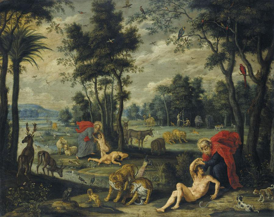 File Isaac Van Oosten The Creation Of Adam And Eve With The Temptation And Original Sin In The Background Jpg Wikimedia Commons