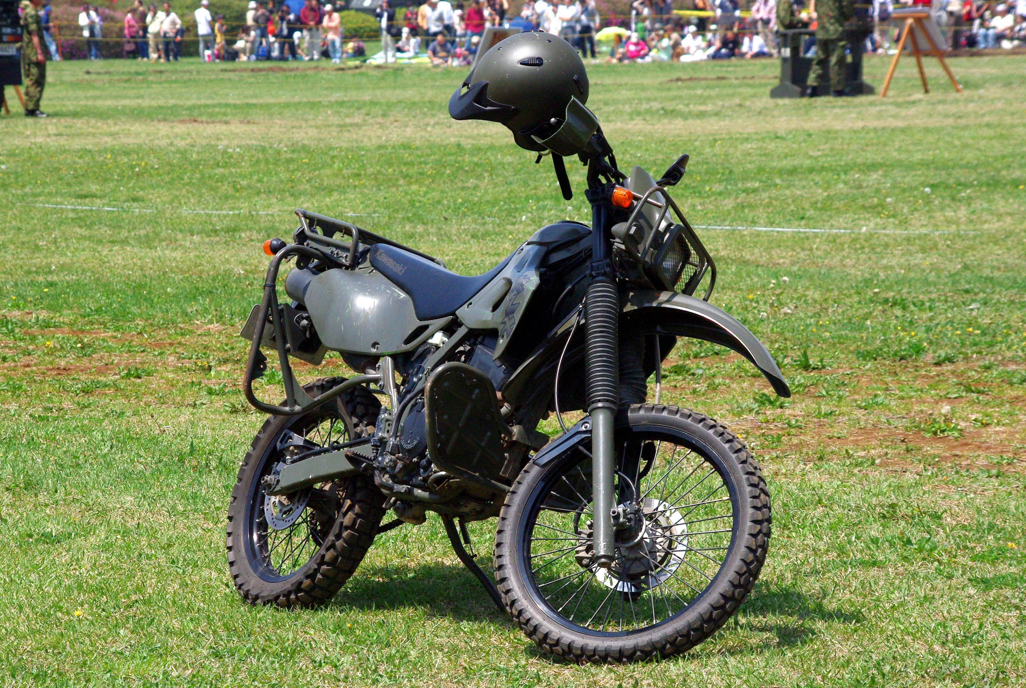 File:JGSDF reconnaissance bicycle (Kawasaki KLX250 ...