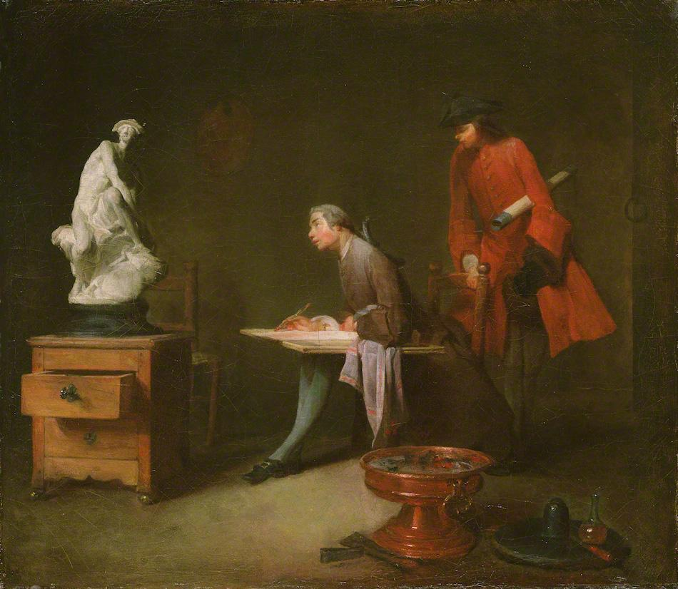 File:Jean Baptiste Simeon - The Drawing Lesson.jpg - Wikimedia Commons