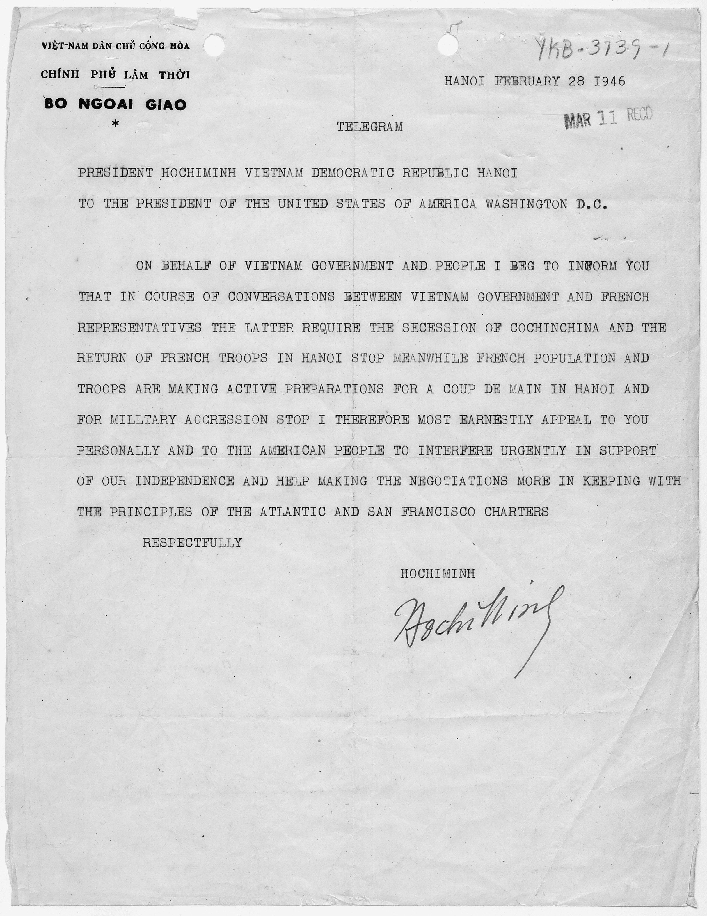 Fileletter from ho chi minh to president harry s truman nara fileletter from ho chi minh to president harry s truman nara thecheapjerseys Gallery