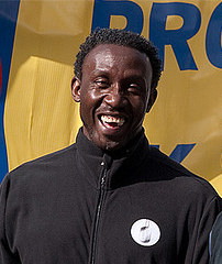 Linford Christie English athlete, Olympic medalist
