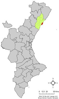 Vị trí của Oropesa del Mar