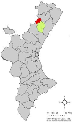 Vị trí của Vistabella del Maestrazgo