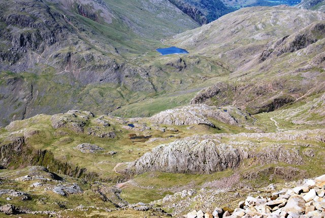 Looking down to the Corridor Route from Scafell Pike - geograph.org.uk - 1331304