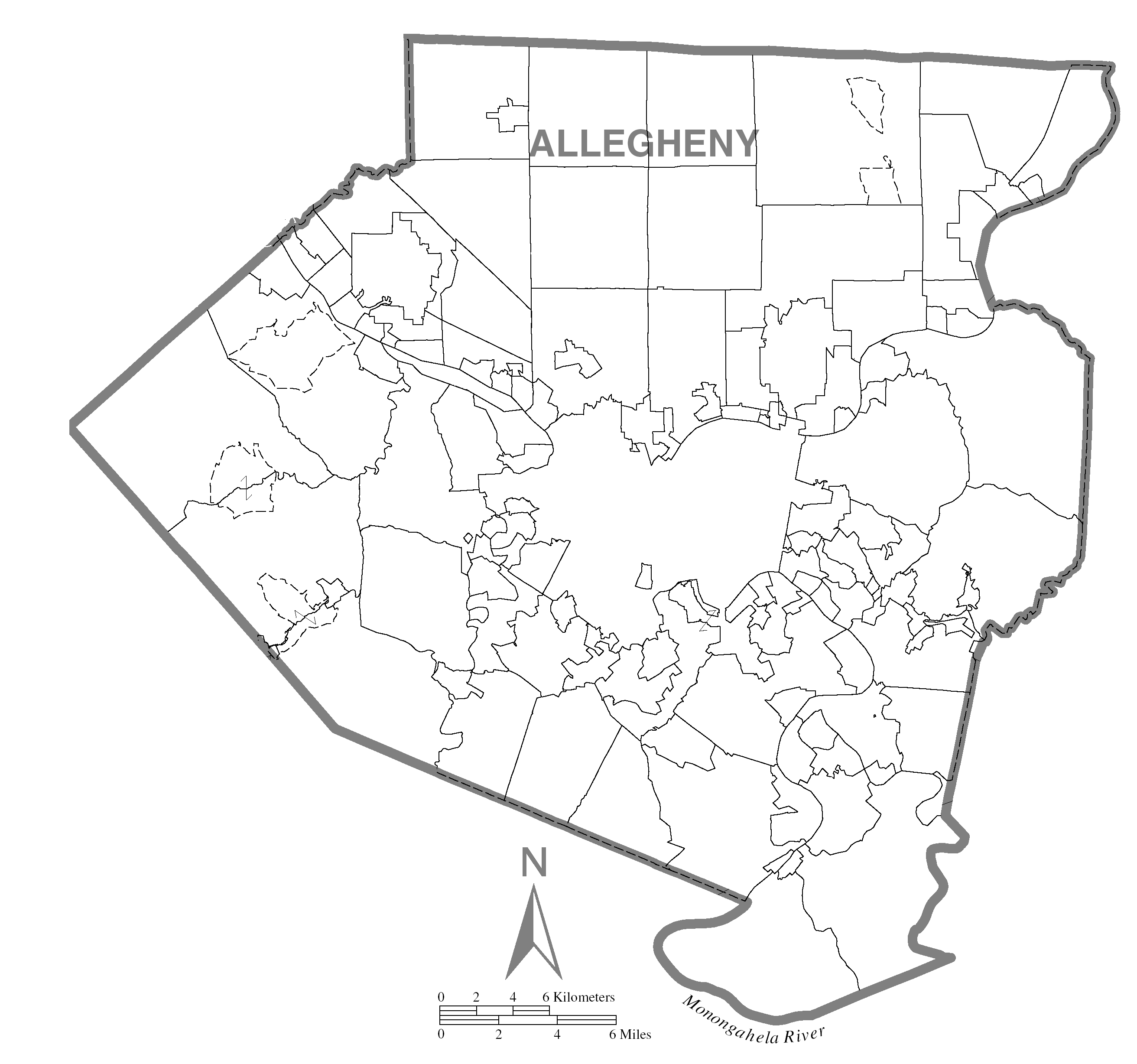 Map of Allegheny County, Pennsylvania No Text.png