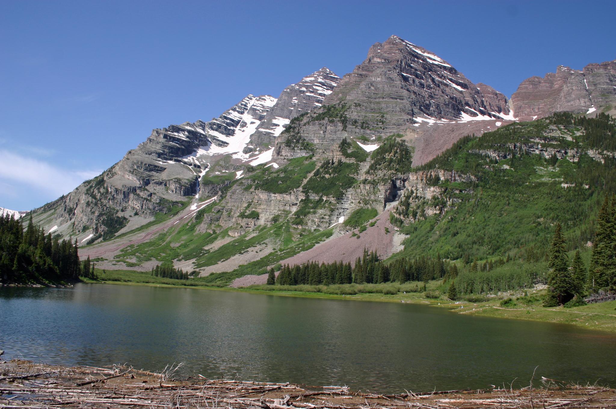 File Maroon Bells Colorado Jpg Wikimedia Commons
