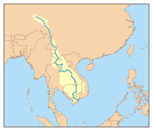 Map of the Mekong River watershed.