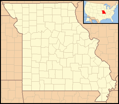 Location map USA Missouri