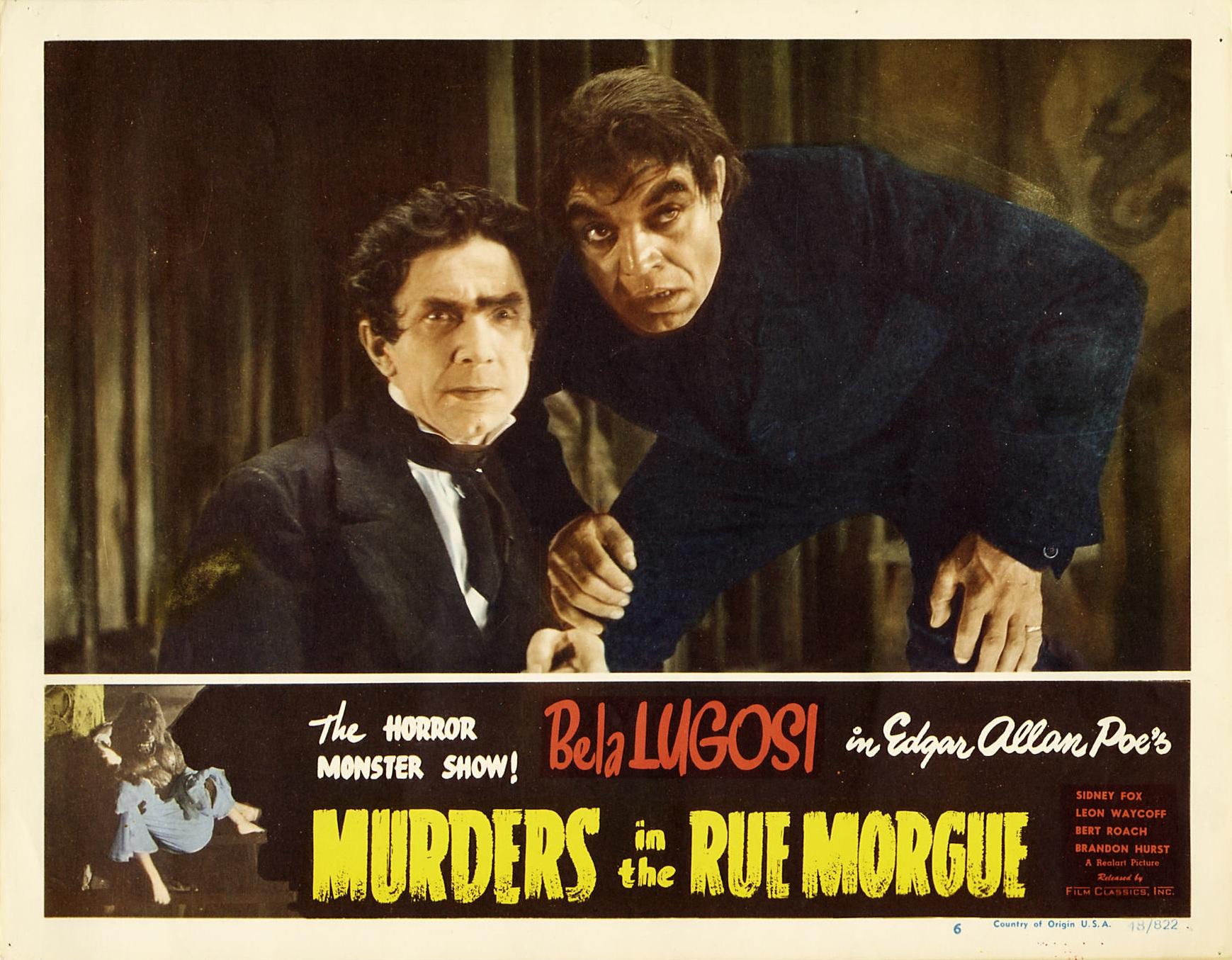 Murders in the Rue Morgue (1932 film) - Wikiquote