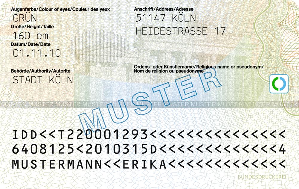 Muster Personalausweis Die Modellburgerin