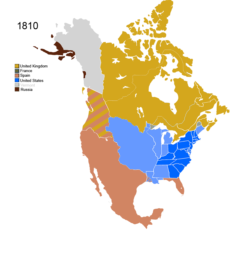 File Non Native American Nations Control Over N America 1810 Png