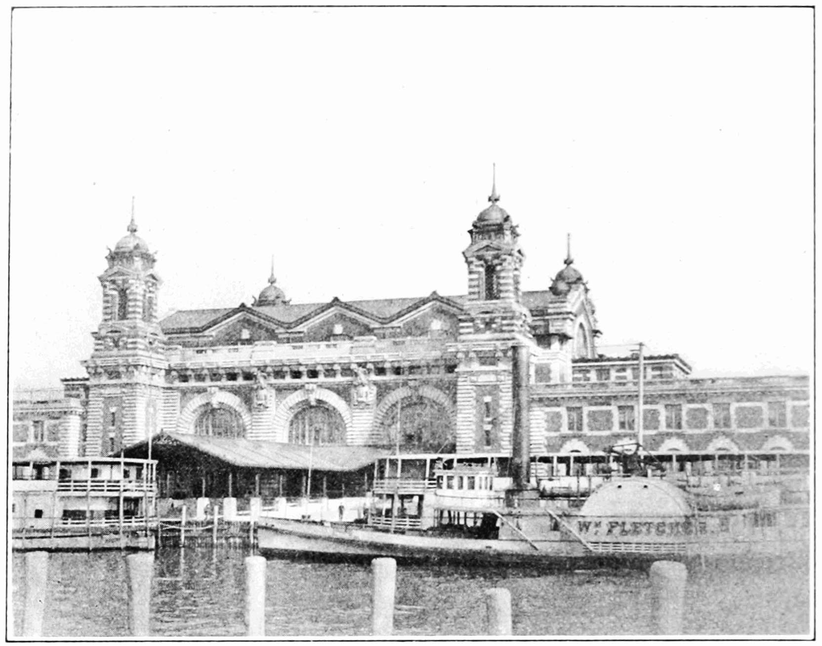 PSM V83 D318 Ellis island boat launch station.png