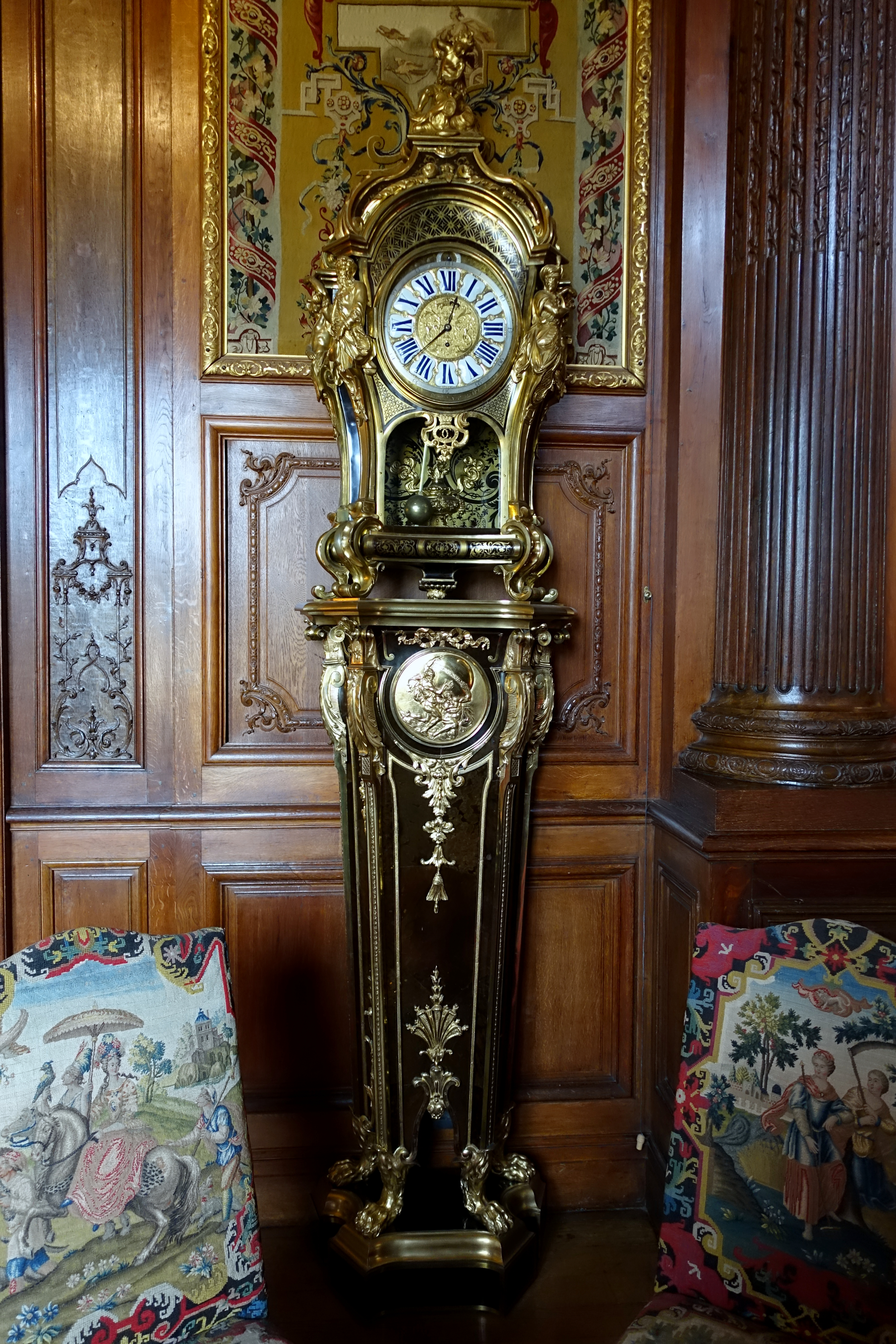 Pedestal clock by Andr Charles Boulle movement by