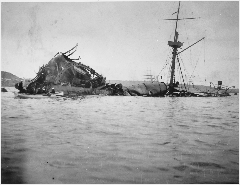 Image result for the us battleship maine exploded in havana harbor
