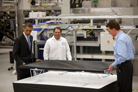 Obama visiting Solyndra