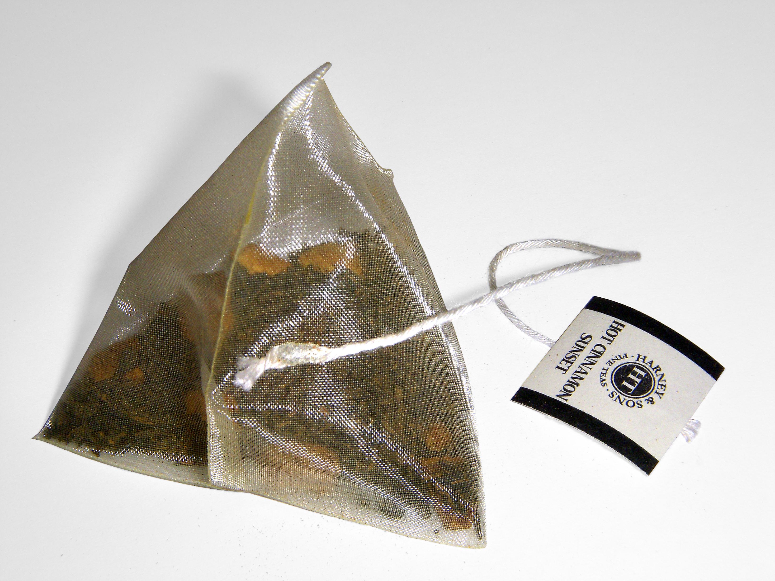 File:Pyramidal silk tea bag.jpg - Wikimedia Commons