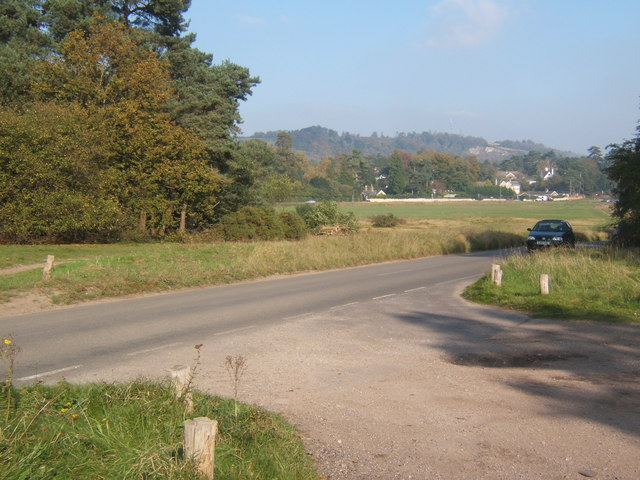 Reigate Heath, lane near car park - geograph.org.uk - 592966