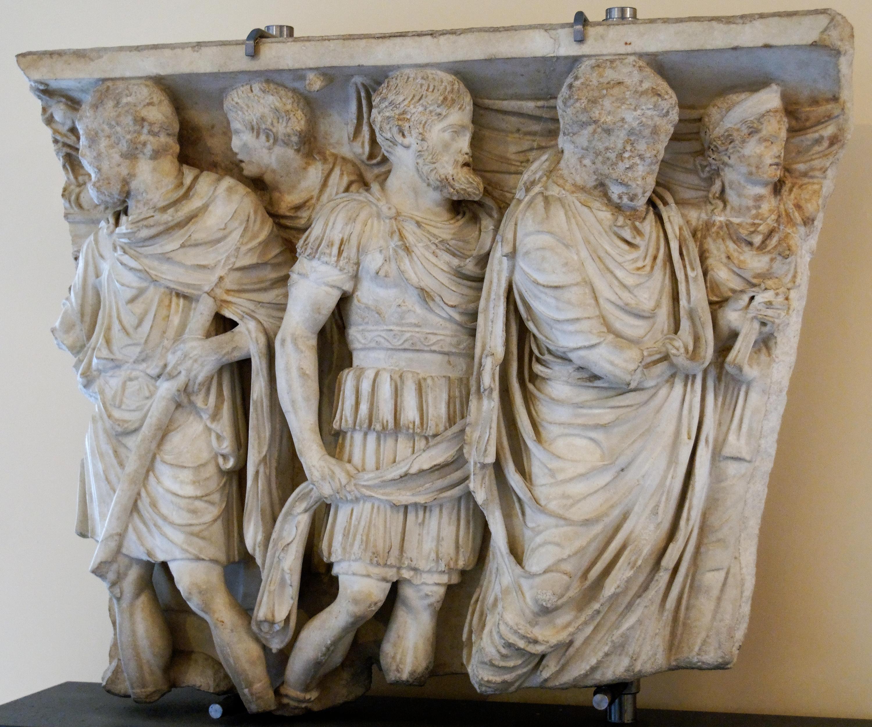 Matrimonio Romano Confarreatio : File sarcophagus crotone musei capitolini mc g