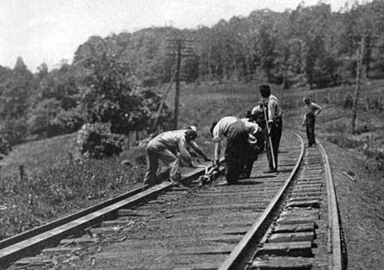 In railroad 1800s workers the 150 Years