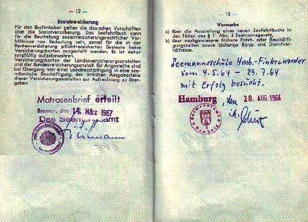 """Die  """"Mosesfabrik"""" Seefahrtbuch_-_Eintrag_%C3%BCber_Besuch_der_Seemannsschule_und_Matrosenbrief_Erteilung"""