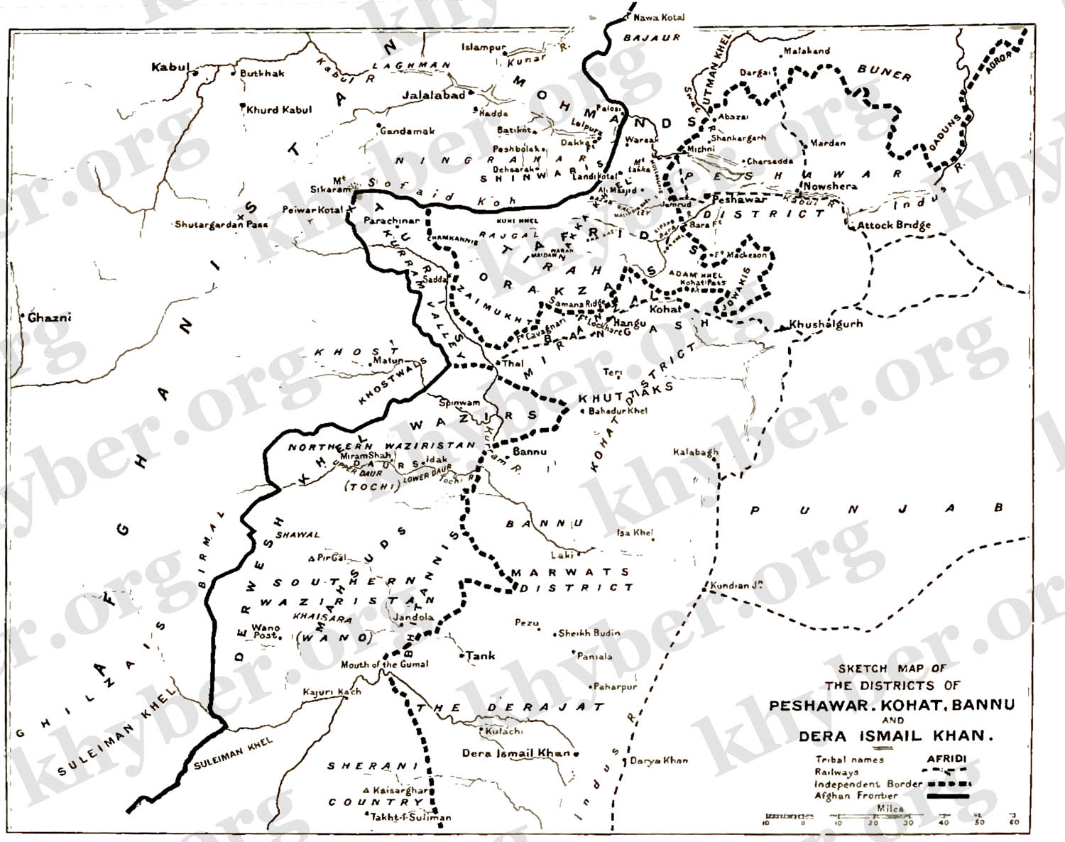 FileSketch Map Of The Districts Of Peshawar Kohat Bannu And - Kohat map