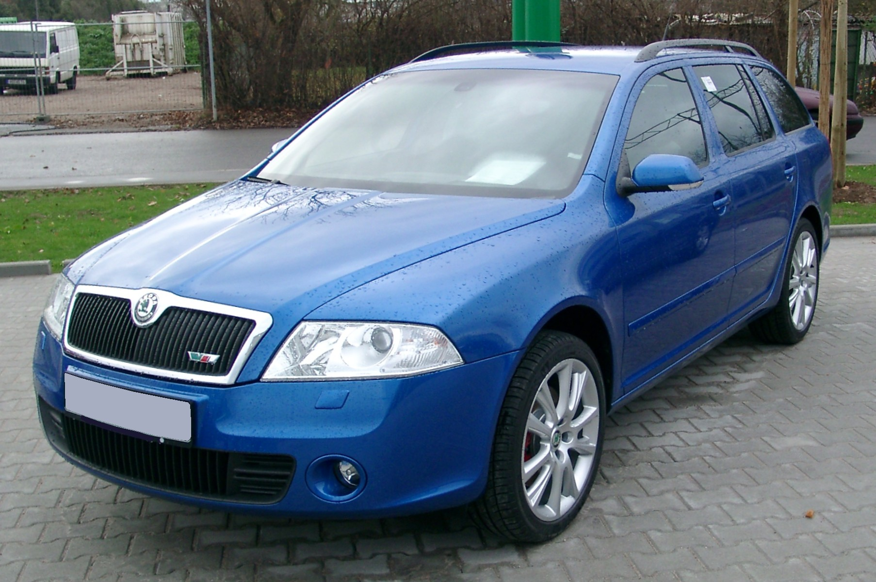 file skoda octavia kombi blue front wikimedia commons. Black Bedroom Furniture Sets. Home Design Ideas