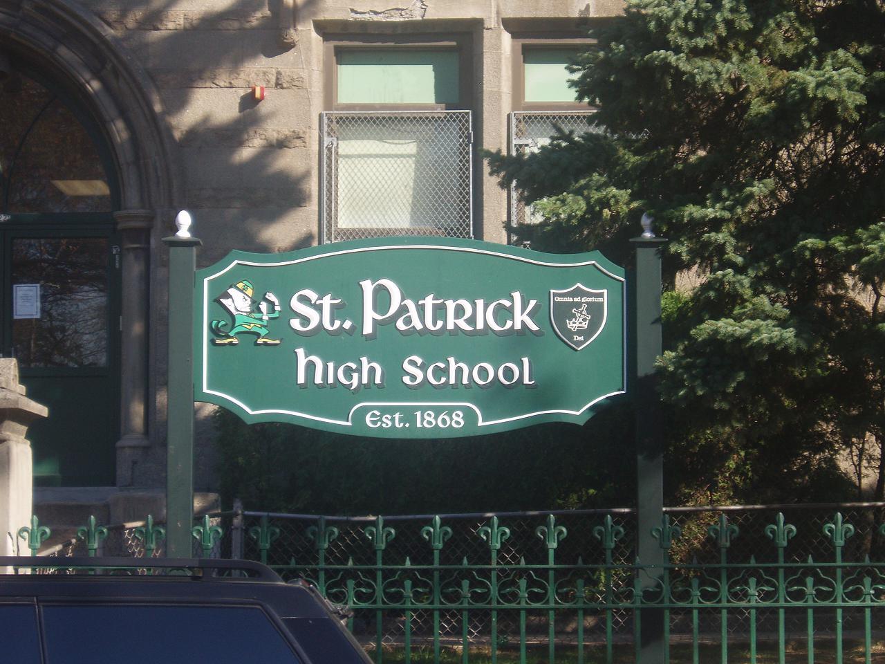 St  Patrick High School (New Jersey) - Wikipedia